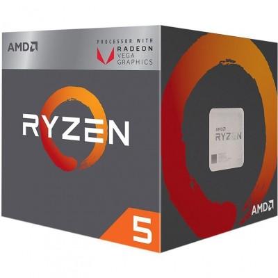 Купить процессор AMD Ryzen 5 2400G, SocketAM4,  BOX  в интернет-магазине - цены, характеристики, отзывы, обзоры