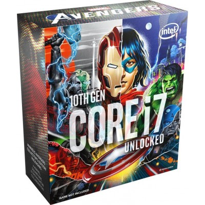 Купить  Процессор INTEL Core i7 10700K Marvel`s Avengers Collector`s Edition, LGA 1200,  BOX (без кулера)  по низкой цене в интернет-магазине