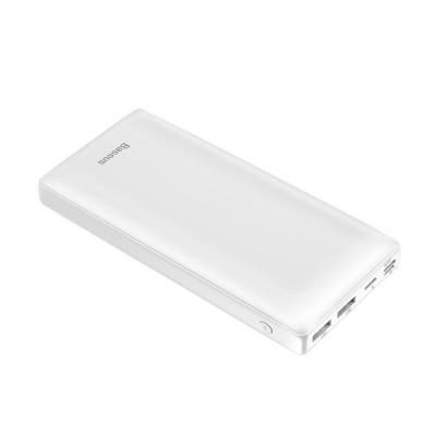 Купить внешний аккумулятор Xiaomi Baseus Mini Fast Charge Power Bank 3A 30000mAh PPJAN-C02 (White)  в интернет-магазине с бесплатной доставкой: характеристики, отзывы