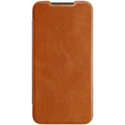 Купить кожаный защитный чехол-книжка Nillkin коричневый для Xiaomi 9 SE - цены отзывы обзоры