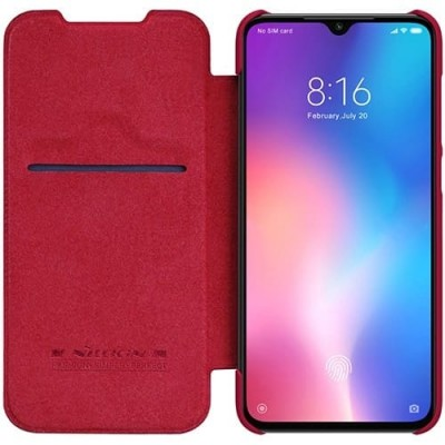 Купить кожаный защитный чехол-книжка Nillkin красный для Xiaomi 9 SE - цены отзывы обзоры