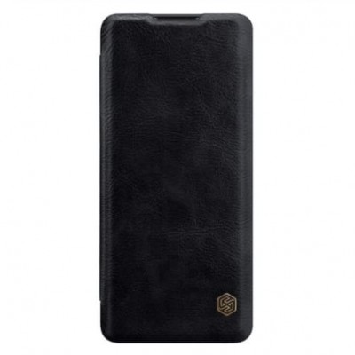 Купить кожаный защитный чехол-книжку чёрный Nillkin Qin для OnePlus 8 Pro - цены отзывы обзоры