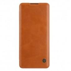 Чехол-книжка коричневый Nillkin Qin для OnePlus 8 Pro