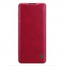 Чехол-книжка красный Nillkin Qin для OnePlus 8