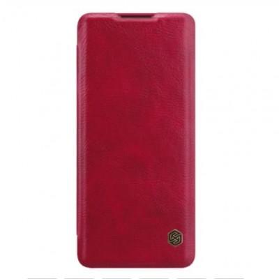 Купить кожаный защитный чехол-книжку red красный Nillkin Qin для OnePlus 8 Pro - цены отзывы обзоры
