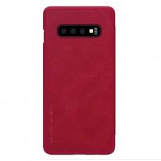 Защитный чехол-книжка Nillkin красный для Samsung Galaxy S10 Plus