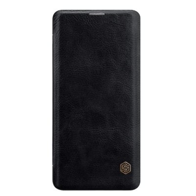 Купить кожаный защитный чехол-книжка Nillkin чёрный для Samsung Galaxy S10 Plus