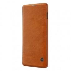 Защитный чехол-книжка Nillkin коричневый для Samsung Galaxy S10 Plus