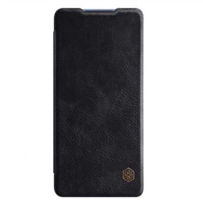 Купить кожаный защитный чехол-книжка Nillkin Qin для Samsung Galaxy S20 Plus Черный - цены отзывы обзоры
