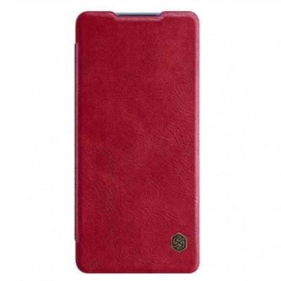 Купить кожаный защитный чехол-книжка Nillkin Qin для Samsung Galaxy S20 Plus Красный - цены отзывы обзоры