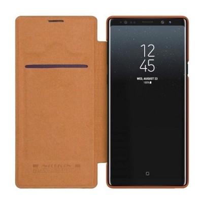 Купить кожаный защитный чехол-книжка Nillkin Qin для Samsung Galaxy Note 9 Коричневый - цены отзывы обзоры