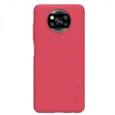 Защитный чехол Nillkin Red Красный для Xiaomi Poco X3 NFC