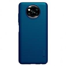 Защитный чехол Nillkin Blue Синий для Xiaomi Poco X3 NFC