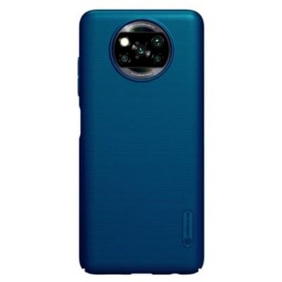Купить защитный чехол Nillkin Blue Синий для Xiaomi Poco X3 NFC - цены отзывы обзоры