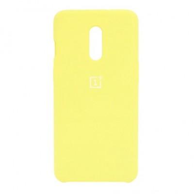 Купить силиконовый мягкий чехол Yellow Жёлтый для OnePlus 7 - цены отзывы обзоры