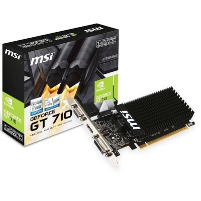 Купить офисную видеокарту MSI nVidia GeForce GT 710 1ГБ - цены, характеристики, отзывы, обзоры